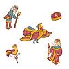 Set von Märchenfiguren