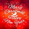 Frohe Weihnachten und Happy New Year Design-Karte, Vektor | Stock Vektrografik