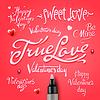 ID 4121630 | Набор Днем Святого Валентина День стороны надписи | Векторный клипарт | CLIPARTO
