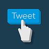 Tweet Button mit Hand gefor Cursor