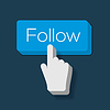 Follow Me Button mit Hand gefor Cursor