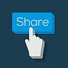 Share Button mit Hand gefor Cursor