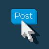 Beitrag Button mit Pfeil geformt Cursor