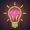 Konzept für erfolgreiche Idee inspiriert von Kolbenform