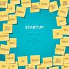 Start-Up-Konzept Vorlage mit Haftnotizen
