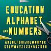 Bildung Alphabet und Zahlen, aus Papier geschnitten
