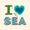 Kocham morze, | Stock Vector Graphics