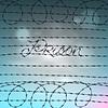 Word-Gefängnis von Stacheldraht geschrieben