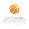 Basketball-Symbol. Orange Basketball Ball