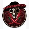 Mexican Schädel Emblem oder Symbol