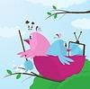 Trouble in Nest über Hausaufgaben