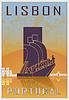 Lissabon vintage poster