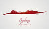 Sydney Skyline in rot