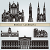 Belfast Landmarks | Stock Vector Graphics