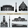Stuttgart landmarks | Stock Vector Graphics