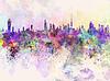 ID 4107054 | Kuwait-Stadt-Skyline im Hintergrund Aquarell | Illustration mit hoher Auflösung | CLIPARTO