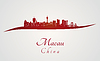 Macau Skyline in rot | Stock Vektrografik