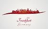 Frankfurter Skyline in rot | Stock Vektrografik