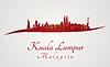 Kuala Lumpur Skyline in rot | Stock Vektrografik