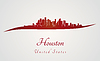 Houston-Skyline in rot | Stock Vektrografik