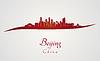 Peking Skyline in rot