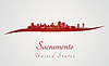 Sacramento Skyline in rot