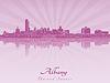 Albany Skyline im strahlenden Orchidee