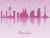 ID 4156410 | Barcelona skyline in purple radiant orchid | Klipart wektorowy | KLIPARTO