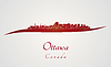 Ottawa Skyline in rot