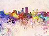 ID 4216687 | Jacksonville skyline w tle akwarela | Stockowa ilustracja wysokiej rozdzielczości | KLIPARTO