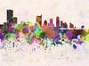 ID 4228128 | Austin Skyline in Aquarell-Hintergrund | Illustration mit hoher Auflösung | CLIPARTO