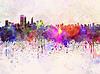 ID 4240681 | Perth Skyline in Aquarell-Hintergrund | Illustration mit hoher Auflösung | CLIPARTO