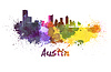 ID 4304771 | Austin skyline in watercolor | 높은 해상도 그림 | CLIPARTO