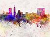 ID 4368928 | Indianapolis Skyline im Hintergrund Aquarell | Illustration mit hoher Auflösung | CLIPARTO