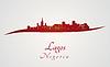 Векторный клипарт: Лагос горизонт в красный