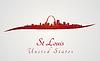 Векторный клипарт: Сент-Луис горизонт в красный