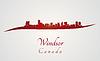 Векторный клипарт: Windsor горизонт в красный
