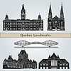 Векторный клипарт: Ориентиры Квебек и памятники