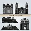 Векторный клипарт: Ориентиры Валлетта и памятники