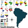 Landkarten von Südamerika