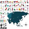 Politische Karten von Asien