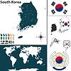 Karte von Süd-Korea