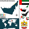 Karte von Vereinigte Arabische Emirate
