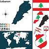 Landkarte von Libanon