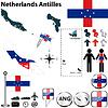 Karte von Niederländische Antillen