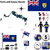 Karte von Turks-und Caicosinseln