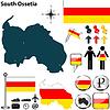 Karte von Südossetien