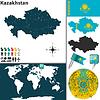 Landkarte von Kasachstan