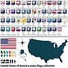 Vereinigte Staaten von Amerika Staaten Flaggen Sammlung