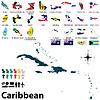 Politische Karte der Karibik